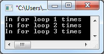 A for loop can be used to make our C program loop for a specific number of times.